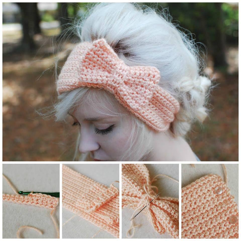 Crochet Bow Headband An Easy Free Pattern #crochetbowpattern