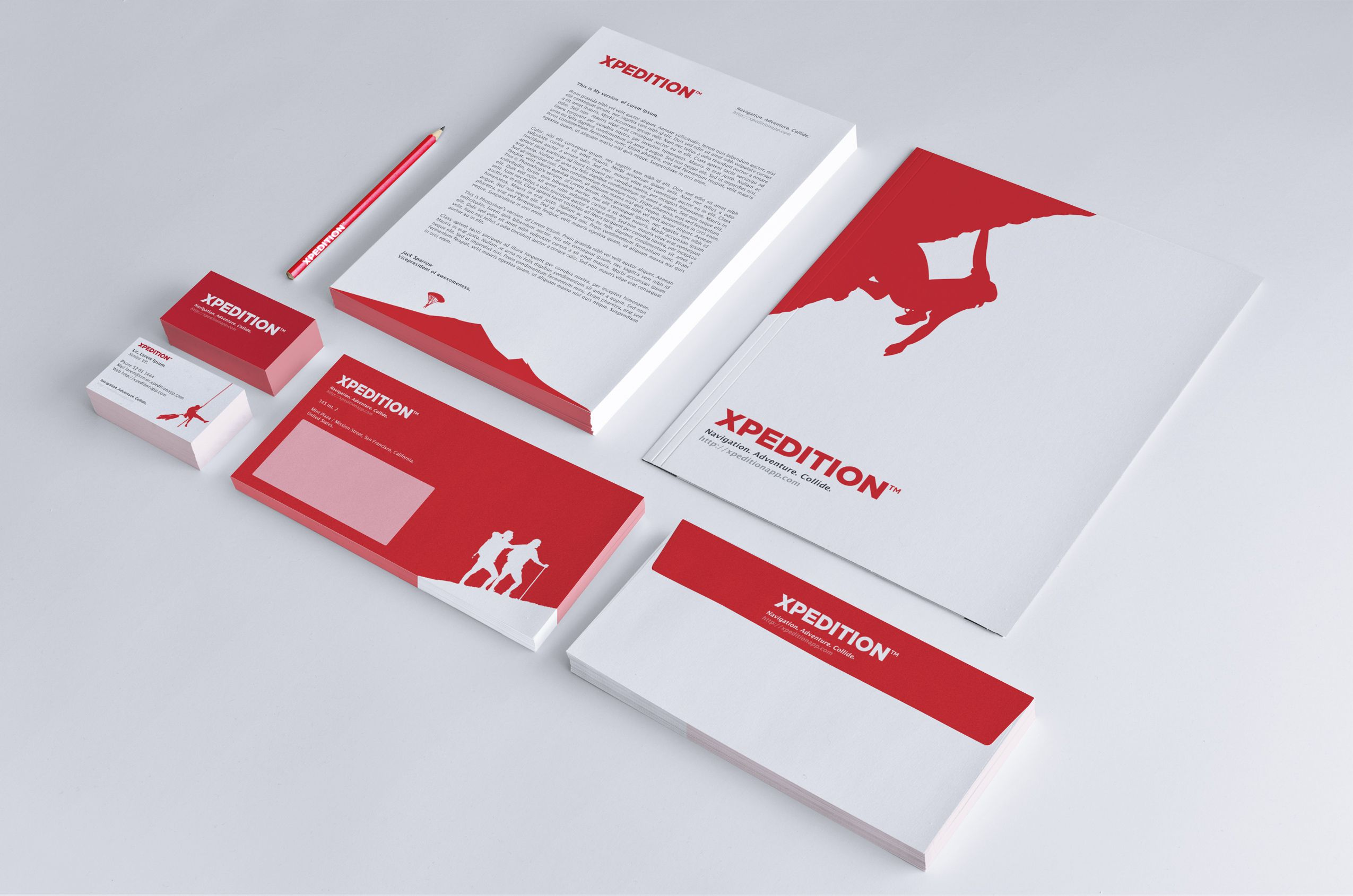 XPEDITION print identity mockup envelope business card