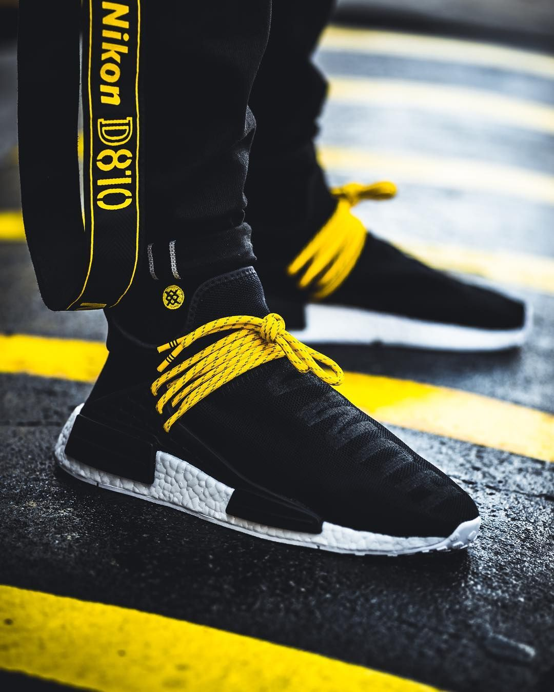 Pharrell X Adidas NMD Human Race Yellow BB0619 with Real Boost