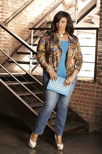 421680243f4 Ashley Stewart Denim Campaign 2013. Model Anita Marshall ...