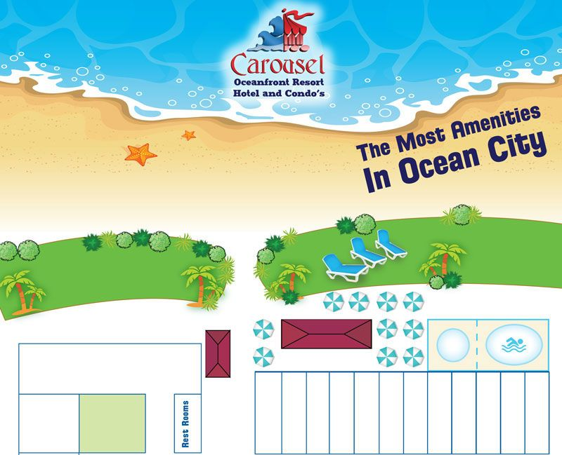 Ocean City Maryland Oceanfront Family Hotels Carousel Beachfront - Ocean city md map