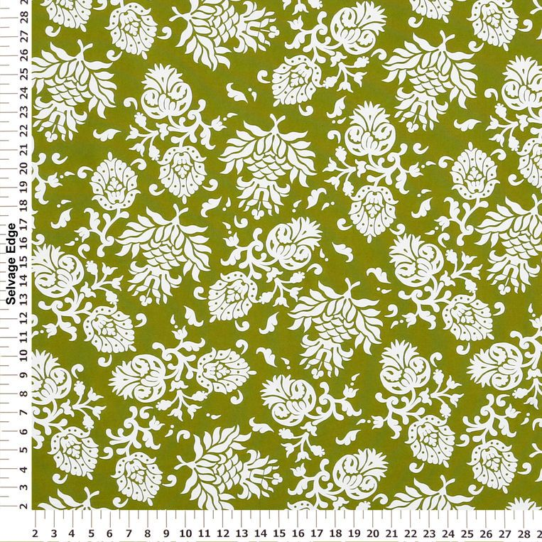 Merveilleux Green Modern Jacobean Cotton Home Decor Fabric   Panel Coordinating Fabrics