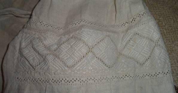 Сорочка, вишивка білим по білому
