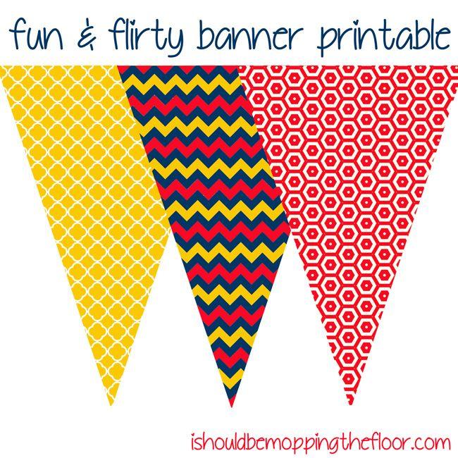 friday 39 s freebie fun flirty printable banner freeprintable printable printables. Black Bedroom Furniture Sets. Home Design Ideas
