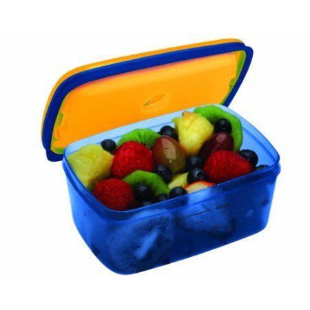 Fit & Fresh Kids' Soft Touch Lid 2 Cup Chilled Container