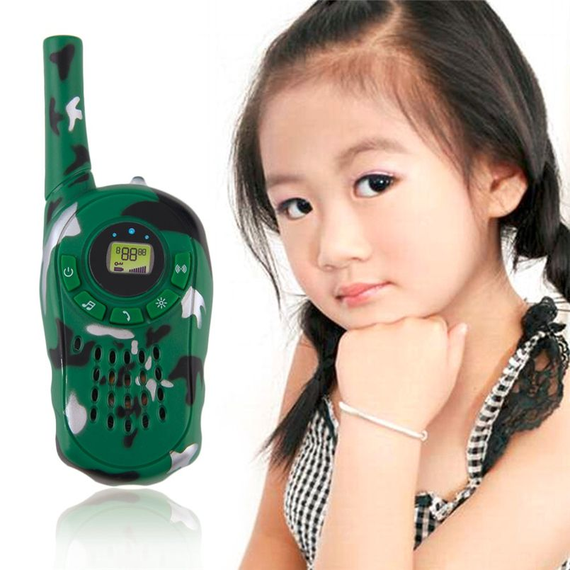 2 Pcs Camouflage Talkie Walkie Jouet Espion Gadgets Enfants Espion Jouet Interphone Électronique Conan Portable Deux-Way Radio Set Interphone