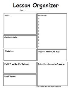 Danielson EnglishLanguage Arts Lesson Plan By Teaching Garden TpT - Monthly lesson plan template