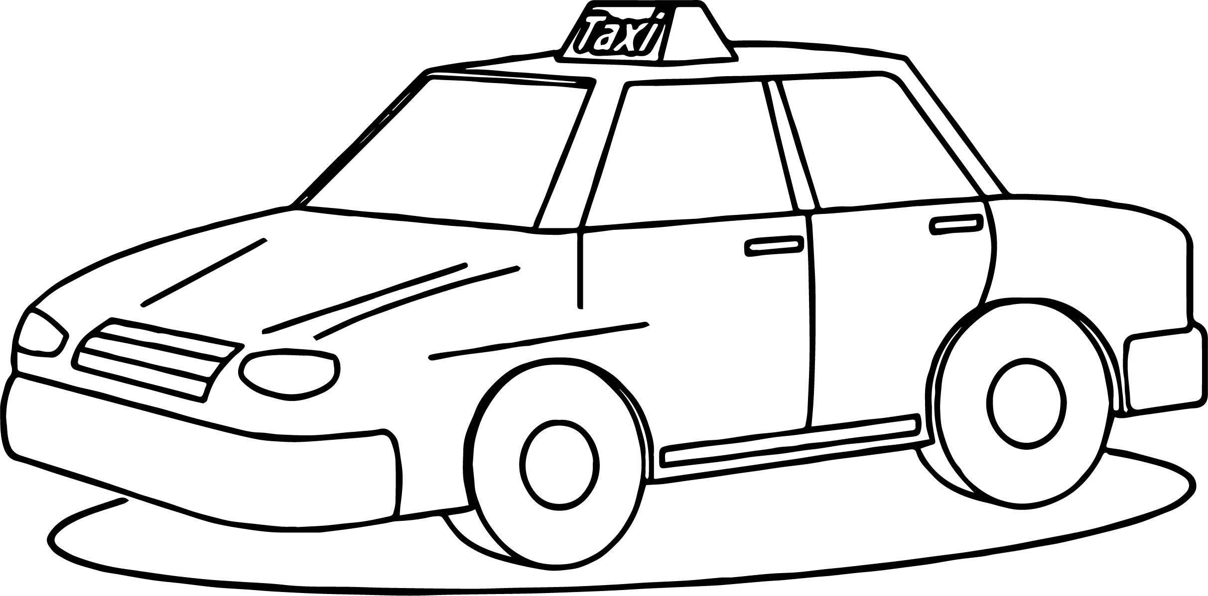 Awesome Taxi Driver Fine Car Coloring Page Cars Coloring Pages