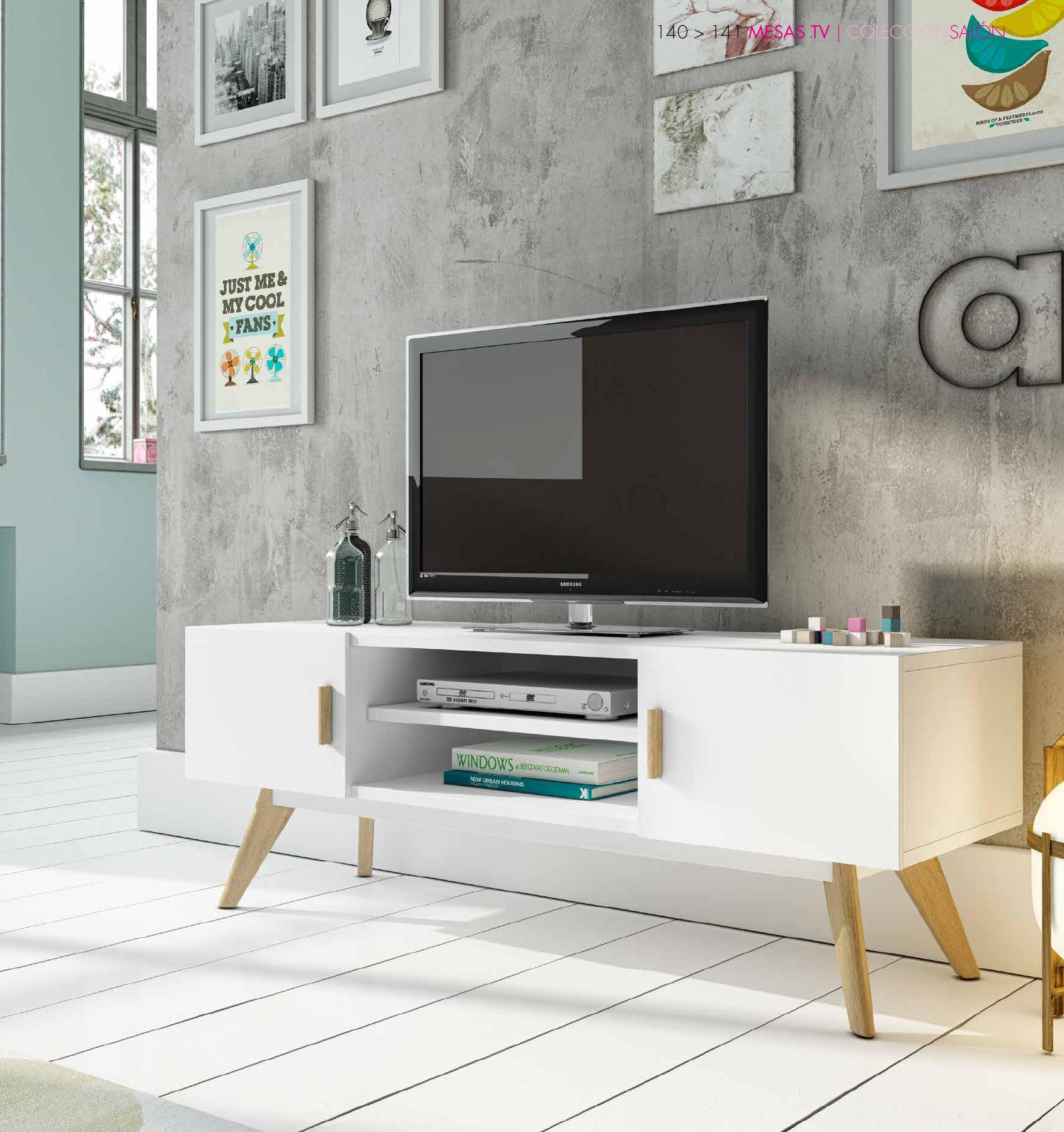 Envíos gratis a toda España) Mueble para TV estilo nórdico vintage ...