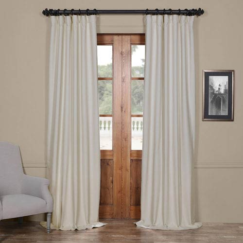Half Price Drapes Bellino Cottage White 50 X 96 Inch Blackout