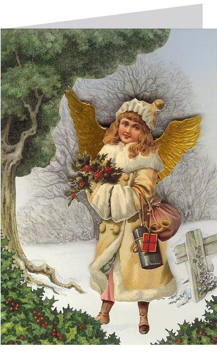 3-D Christmas card from England