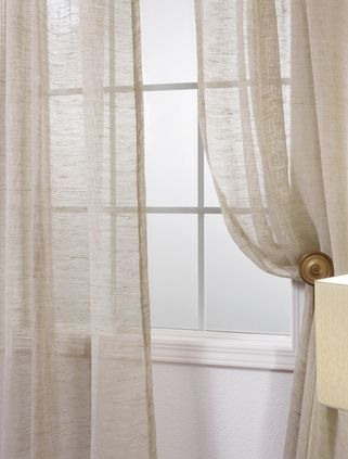 Open Weave Natural Linen Sheer Curtains Drapes Curtains Dinning Room Decor Industrial Bedroom Design