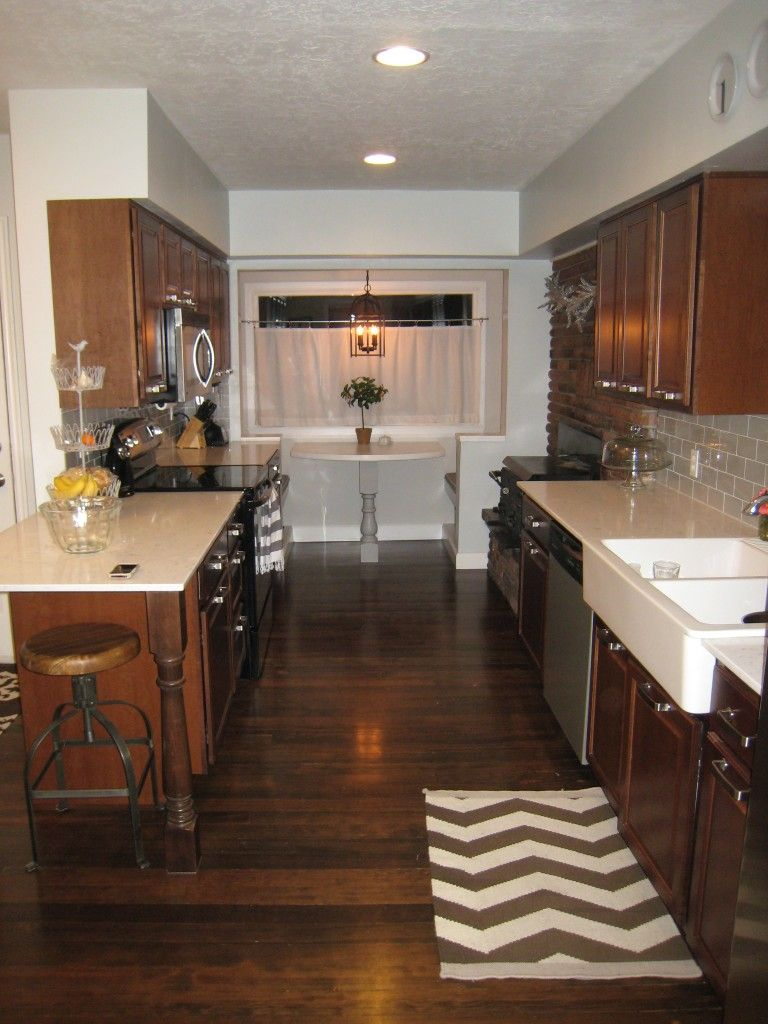 Love what she did with her small kitchen plus good tips on