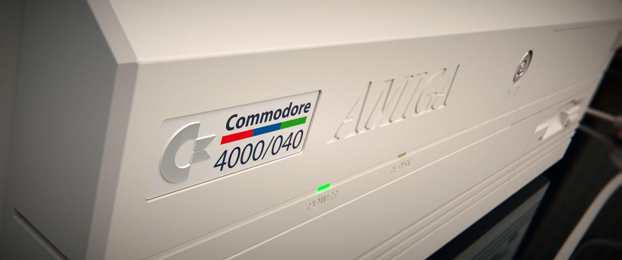 3d Model Of Commodore Amiga 4000 With Monitor 1930 Commodore