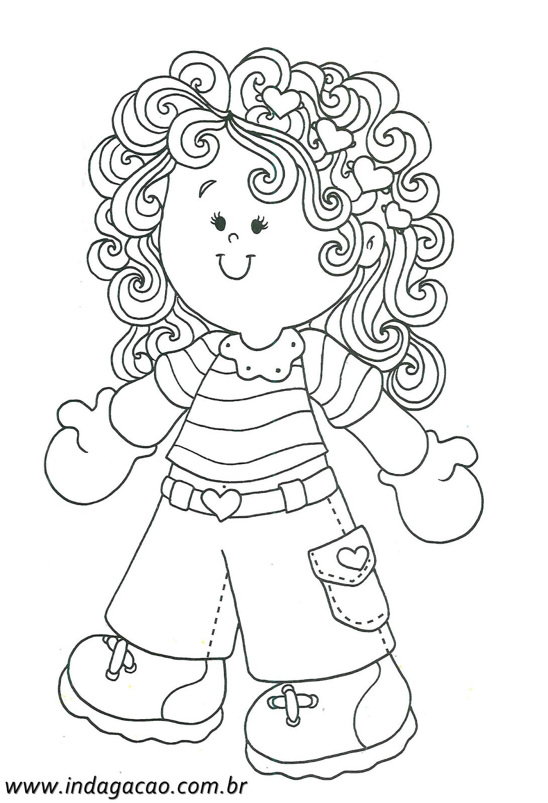 Desenho De Menina Para Imprimir Baixar Gratis Desenhos