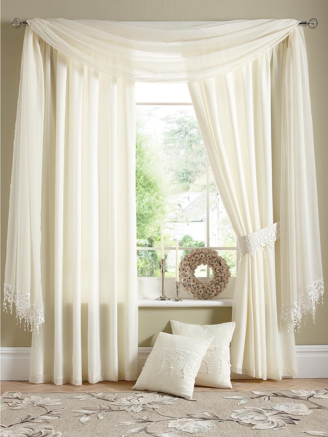 Wisteria Lined Voile Curtains Buy 1 Get 1 FREE y
