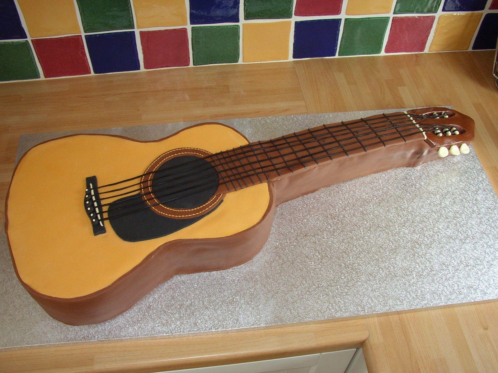 acoustic guitar shaped cake ideas and designs. Black Bedroom Furniture Sets. Home Design Ideas