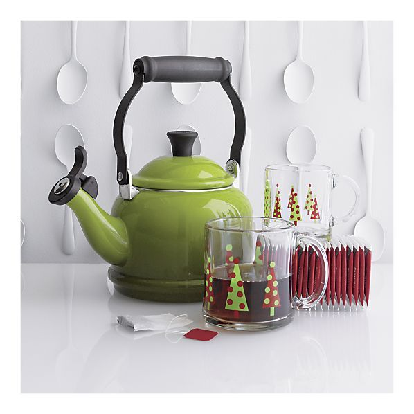 Love a good cup of tea.  Pretty tea kettle from Crate & Barrel