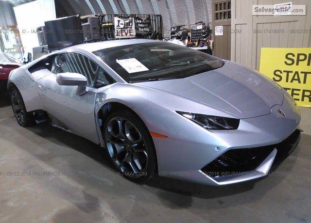 Get The Best Deal On 2016 Lamborghini Huracan At Salvagebid Register To Bid Now Lamborghini Huracan Lamborghini Salvage Cars