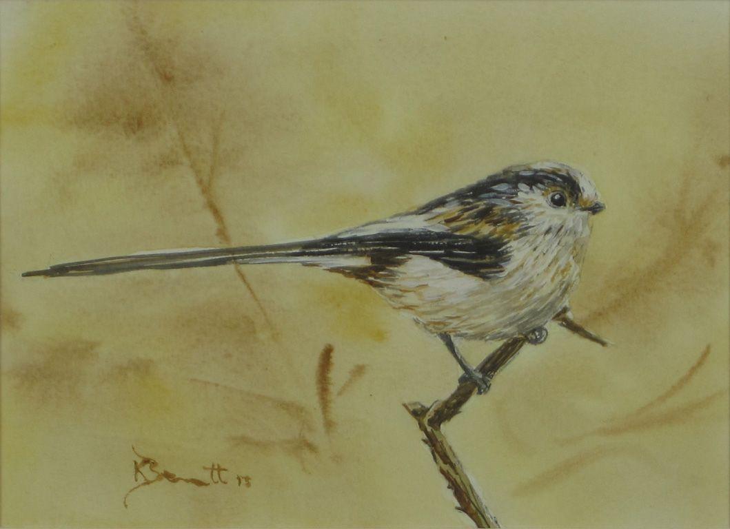 """Long-tailed Tit"" (watercolour - 13cm x 18.5cm (5"" x 7.5""))"