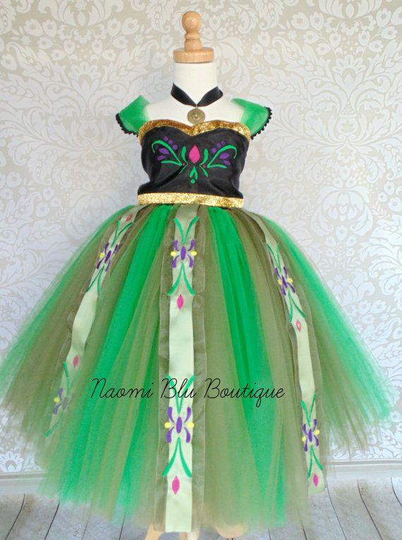 disney inspired frozen princess anna corornation tutu von naomiblu costumes pinterest. Black Bedroom Furniture Sets. Home Design Ideas
