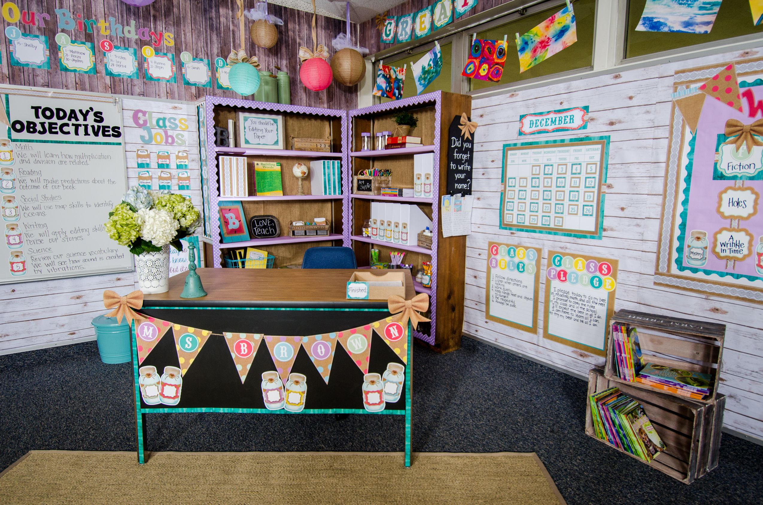 Add Vintage Flair To Your Classroom With The New Shabby Chic Collection From Our Signature Li Shabby Chic Classroom Classroom Decor Shabby Chic Classroom Decor