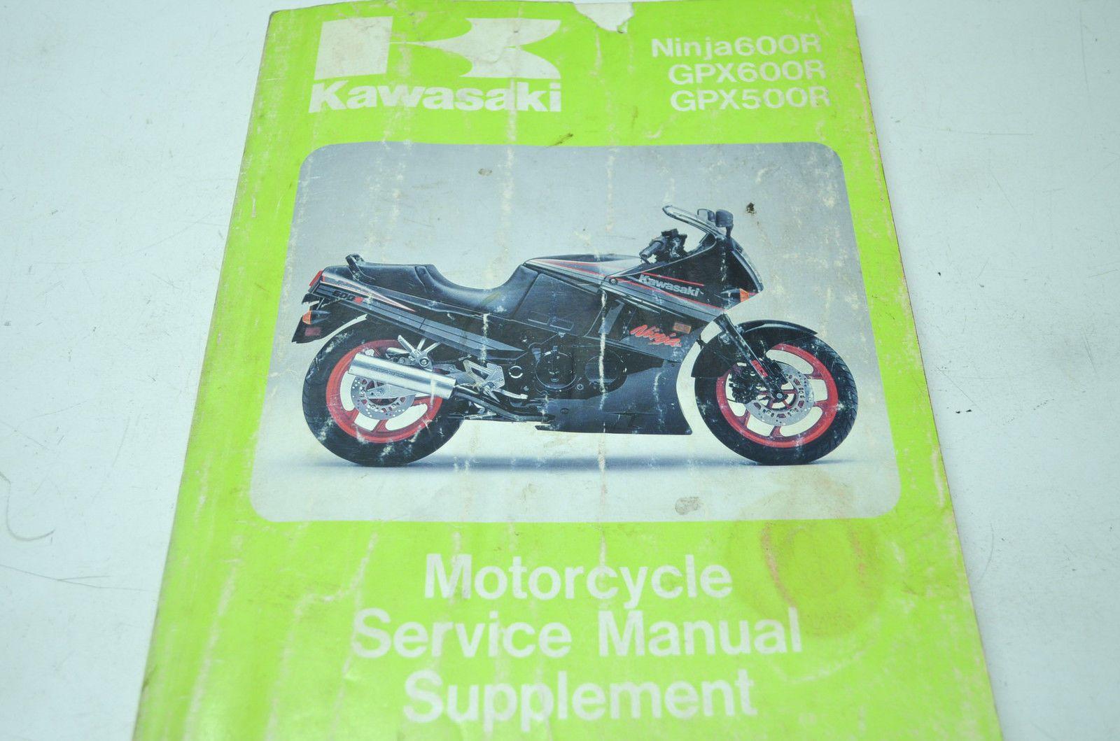 Kawasaki 88 Ninja GPX 600R GPX500R Service Manual Supplement   eBay