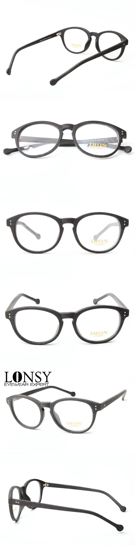 LONSY Handmade Acetate Wood Glasses Frame Clean Eyewear Optical ...