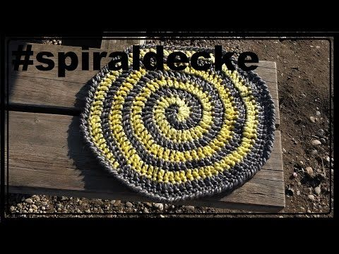 Spiraldecke häkeln, Decke, Babydecke - YouTube | kleber | Pinterest ...