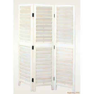 Wayborn Shutter Style 3 Panel Room Divider in White