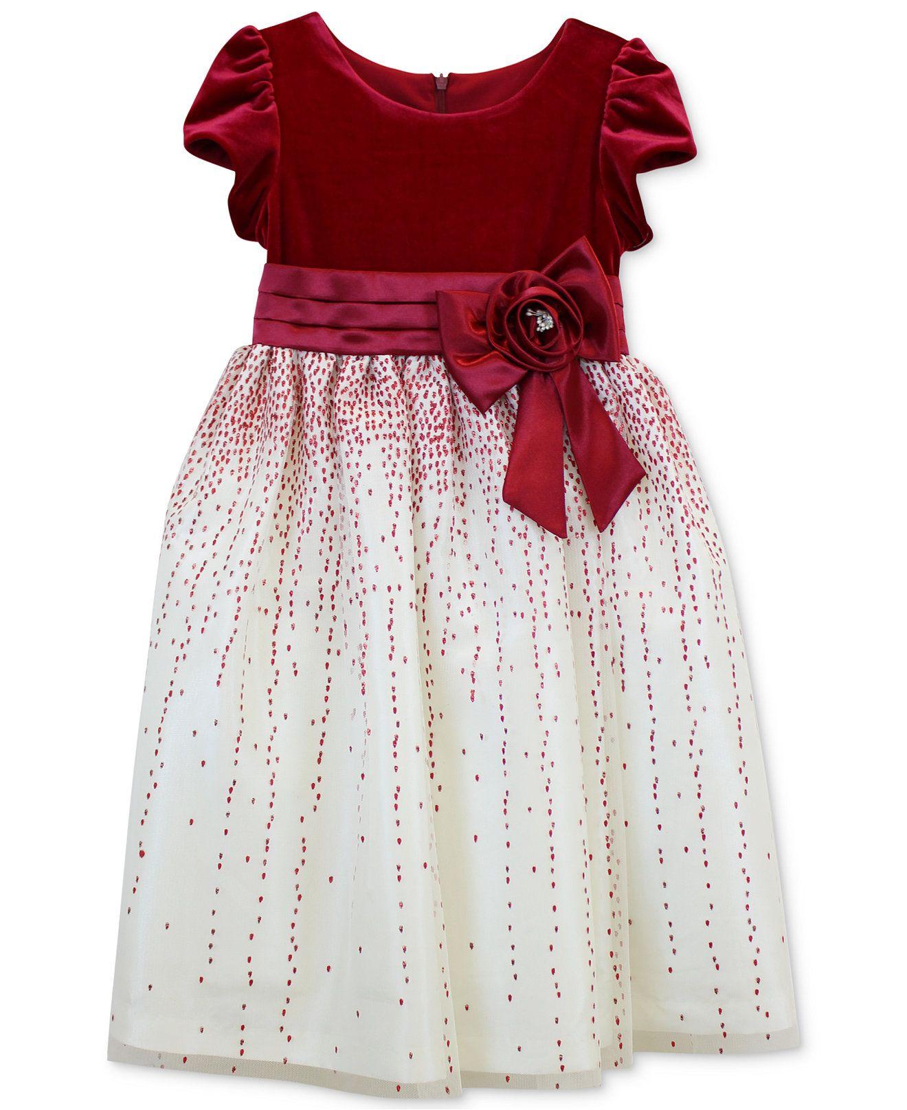 Jayne copeland girls velvet holiday dress kids macys
