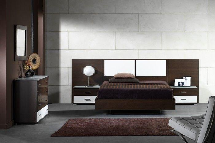 dormitorio wengue y blanco  inspiracin de diseo de