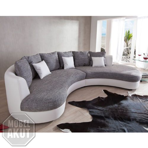 wohnlandschaft limoncello sofa polstermoebel in weiss und grau sofas pinterest limoncello. Black Bedroom Furniture Sets. Home Design Ideas
