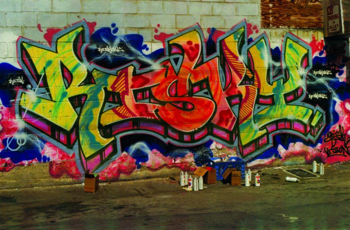 RISK Alley in Santa Monica. circa 90 Graffiti art