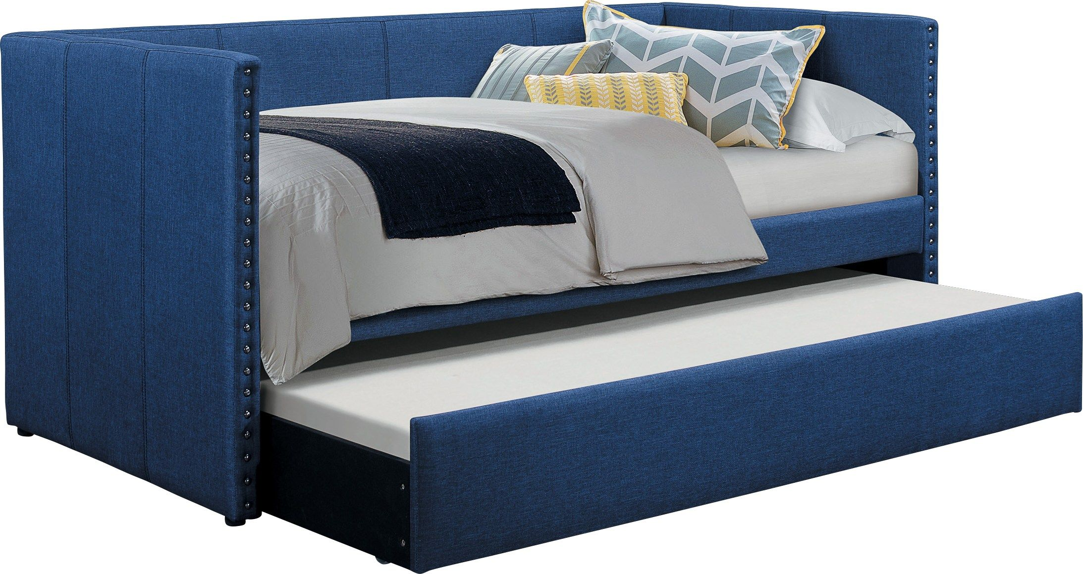 Sanford Way Blue Daybed With Trundle With Images Daybed With