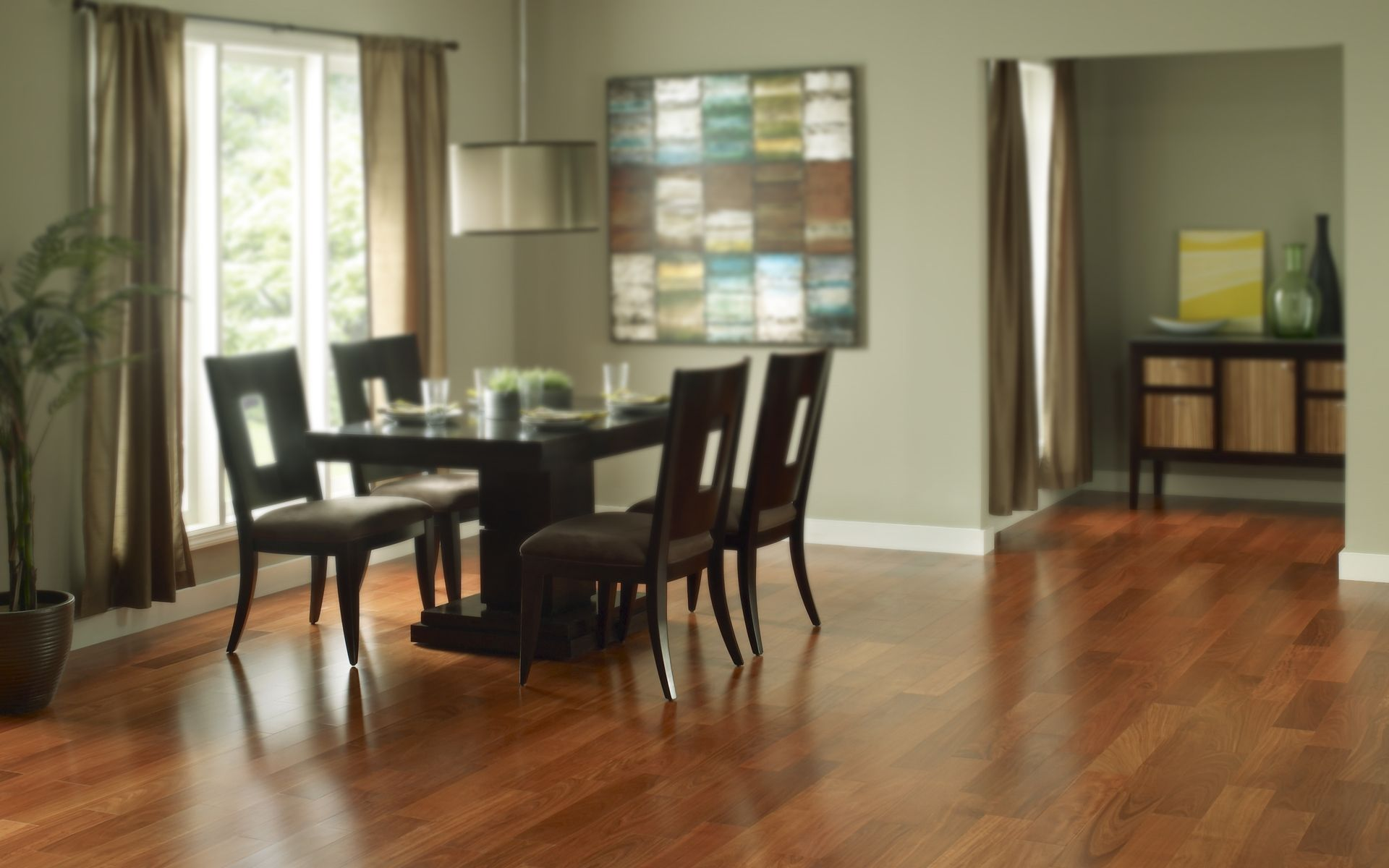 Hardwood Floors In A Dining Room Easy