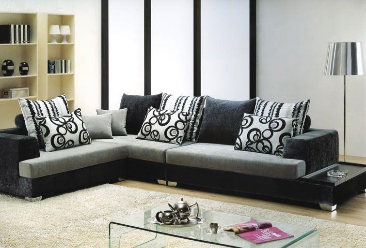 www.ebay.it ............... divano-salotto-mega-sofa-tessuto ... - Angolo Divano In Pelle Nera Divano Sogno Bianco