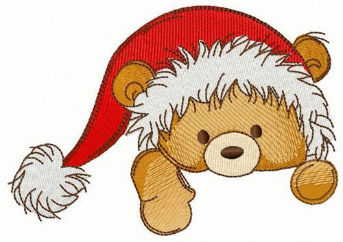 b8b7e3de7d934 What a lovely teddy bear! machine embroidery design  teddybear  toy   Christmas  winter  holiday  Santa  hat  holding  climbing  adorable  mood   embroidery