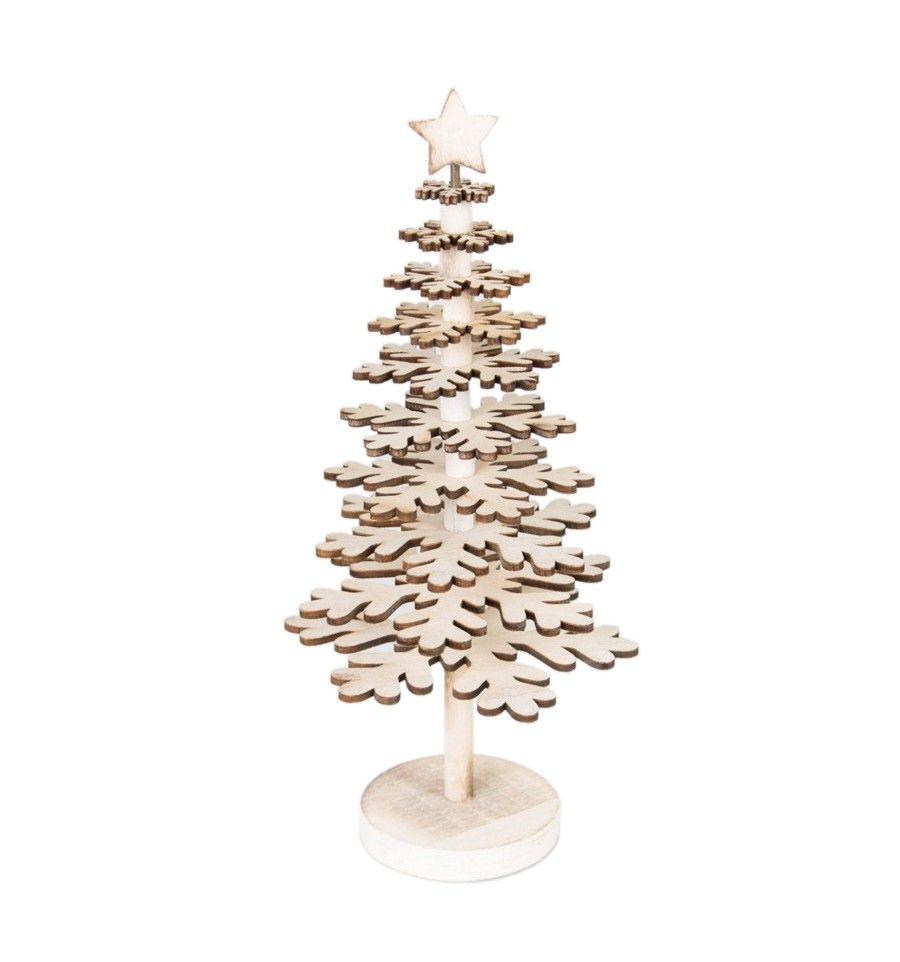 arbol navidad madera hojas relieve blanco pequeo - Arbol De Navidad De Madera