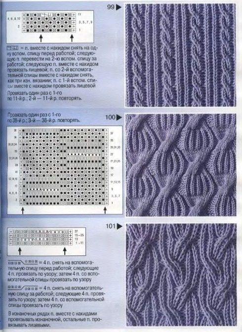 Как вязать спицами патентные узоры схемы