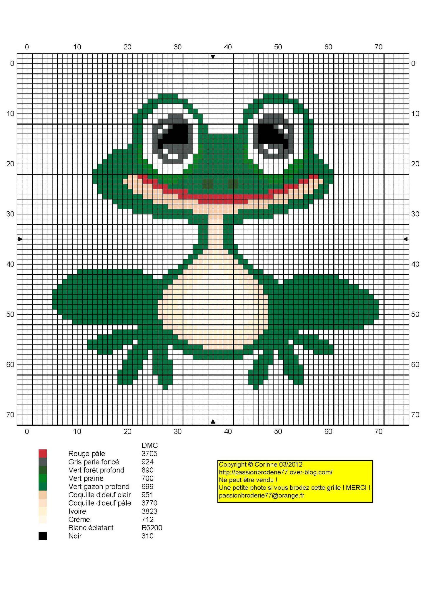grenouille - frog - point de croix - cross stitch - Blog ...