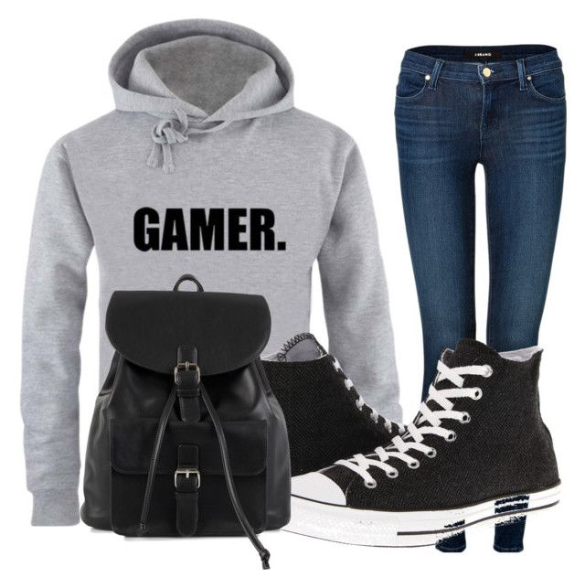 Y/N's Outfit by vandewsa on Polyvore featuring J Brand, Converse and NLY Accessories
