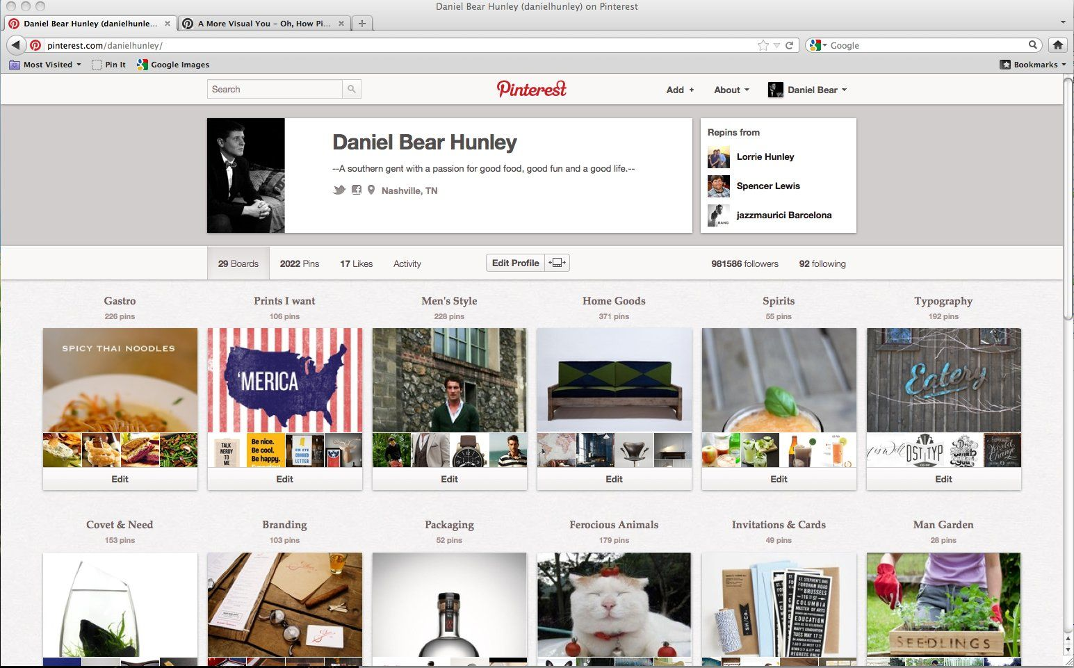 The new Pinterest profile is out! Here's the link to Pinterest's blog article listing the changes. What do you guys think of the new look? I personally like it a lot! I think it's clean and I enjoy seeing who the pinner likes to pin from.