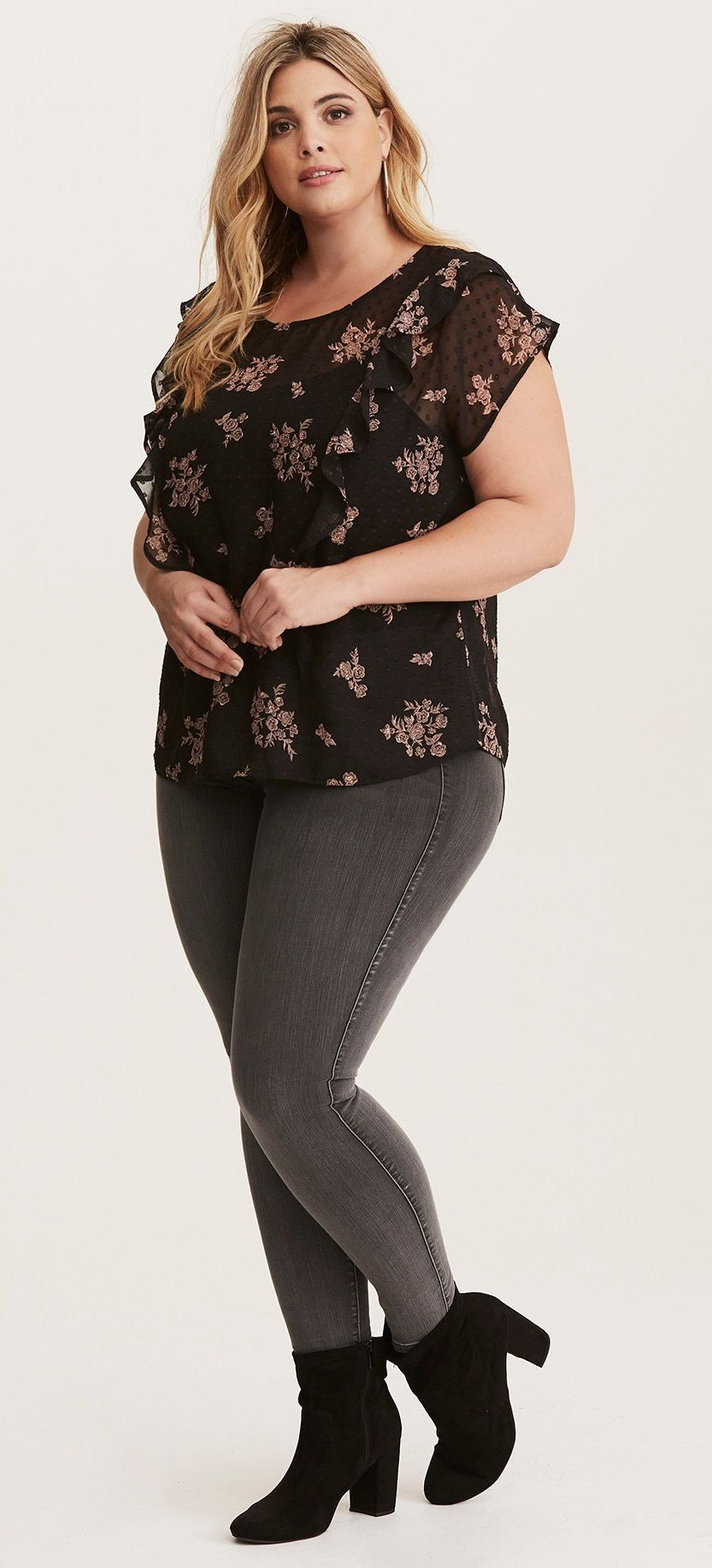Plus Size Ruffled Blouse - Plus Size Fashion for Women