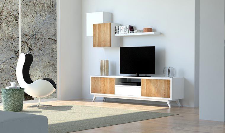 Meuble Tv Bibliotheque Murale Scandinave Amadora Meuble Tv Rangement Murale Design Mobilier De Salon