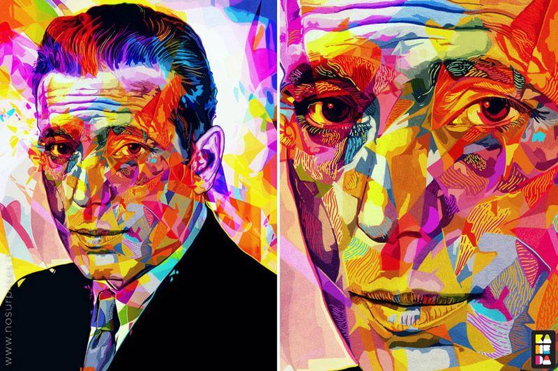 Retratos mega coloridos