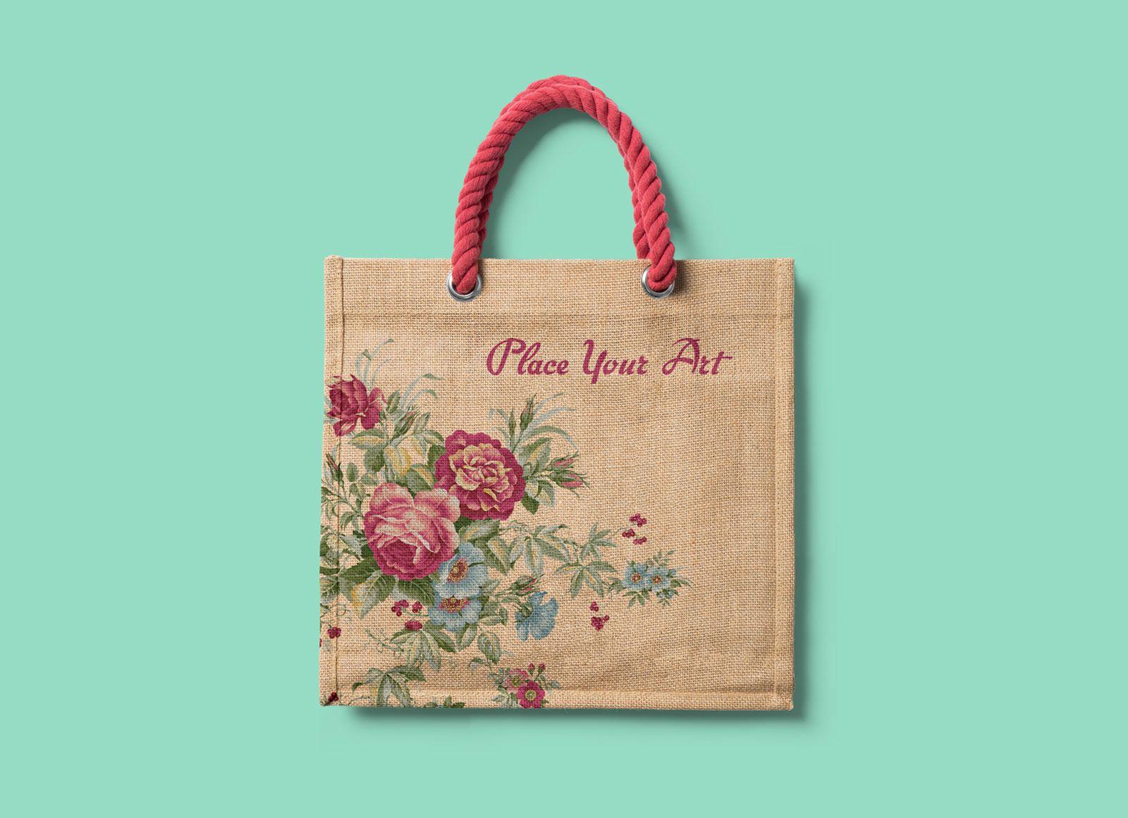 Download Free Tote Shopping Bag Mockup Psd Bag Mockup Free Tote Tote