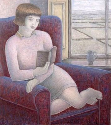 Addinall, Ruth (1960-...) Girl in armchair, 2009
