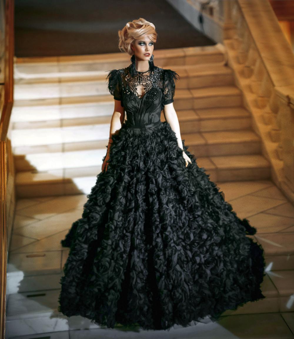Black Lace Embellished Large Skirt Victorian Gown Rental Mila Fashion Celebrity Redcarpet Styles Special Occasions Victorian Gown Gowns Fashion [ 1153 x 1000 Pixel ]