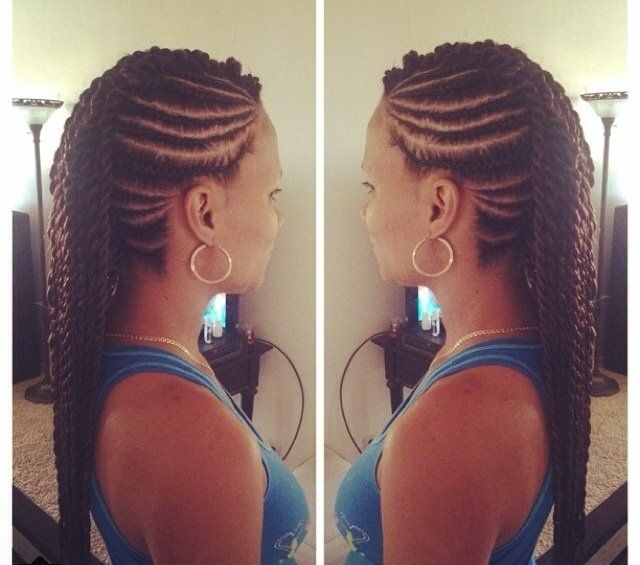 Braided Mohawk With Twist In The Middle Google Search Natural
